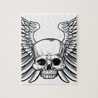 Puzzle Cráneo con las alas