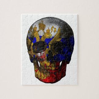 Puzzle Cráneo ruso de la bandera