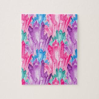 Puzzle Cristales en colores pastel coloridos hermosos