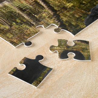Puzzle De los bancos del río del nacional del búfalo