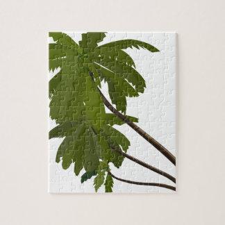 Puzzle De moda blanco del tema hawaiano tropical de las