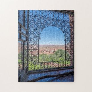 Puzzle Decoración adornada de la ventana