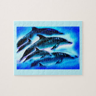 Puzzle Delfínes hermosos