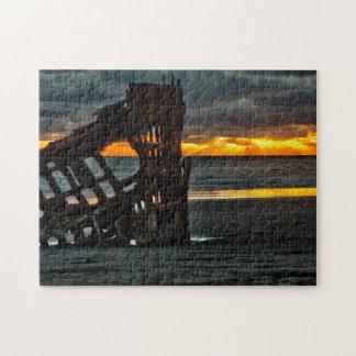 Puzzle Desconcierte, puesta del sol en la ruina del Peter