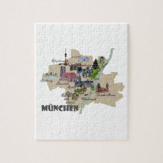 Puzzle Descripción del mapa de Munich