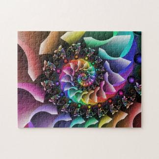 Puzzle Desfile espiral del color del fractal