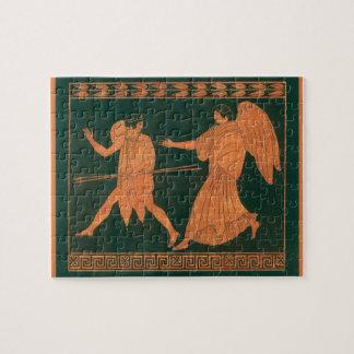 Puzzle Diana y un ángel, mitología romana del vintage