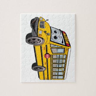 Puzzle Dibujo animado 2017 del autobús escolar