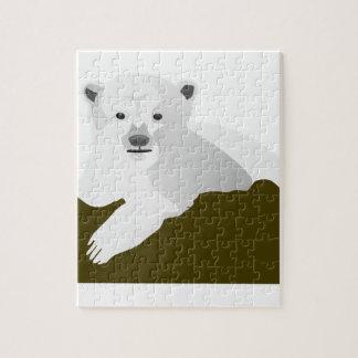 Puzzle Dibujo animado del oso polar