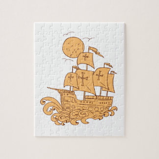Puzzle Dibujo de la luna del velero de Caravel