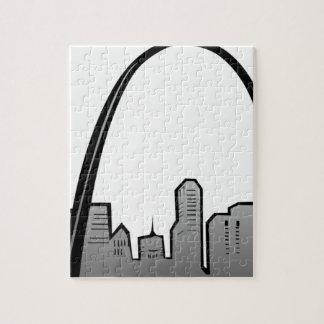 Puzzle Dibujo del horizonte de St. Louis