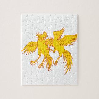 Puzzle Dibujo del pollo de los gallos del Cockfighting