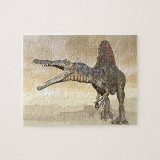 Puzzle Dinosaurio de Spinosaurus en el desierto - 3D