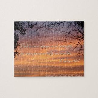 Puzzle Dios del 46:1 del salmo es nuestro refugio y