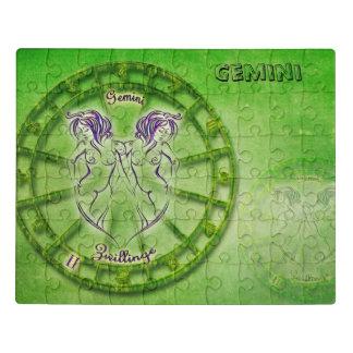 Puzzle Diseño de la astrología del zodiaco de los géminis
