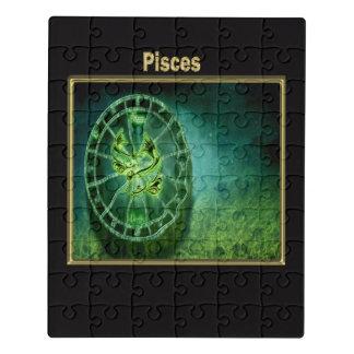 Puzzle Diseño de la astrología del zodiaco de Piscis