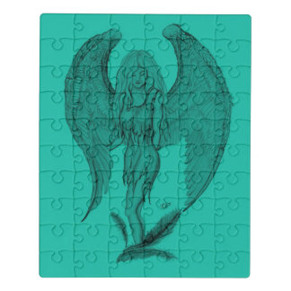Puzzle Diseño del ángel, del negro y del verde