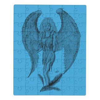 Puzzle Diseño del ángel, negro y azul