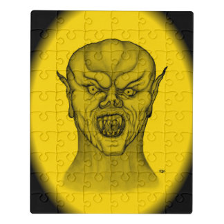 Puzzle Diseño del vampiro, del negro y del amarillo
