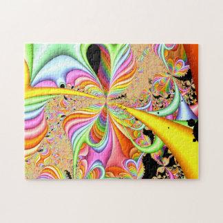Puzzle Diseño en colores pastel del fractal