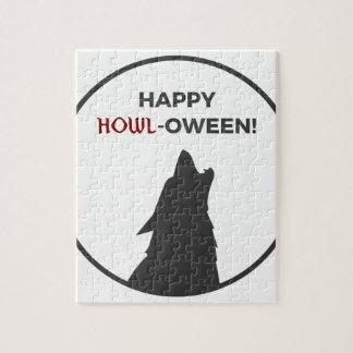 Puzzle Diseño feliz de Halloween del hombre lobo del