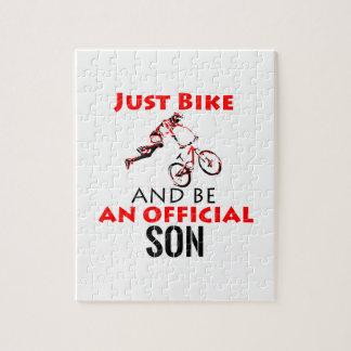 Puzzle diseño fresco de la bici del monthain