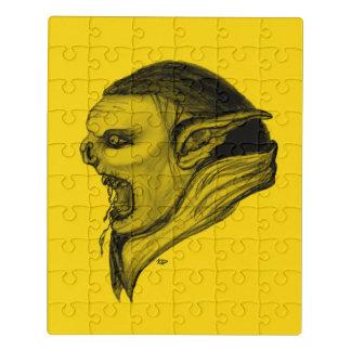 Puzzle Diseño negro y amarillo del duende