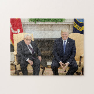 Puzzle Donald Trump con Henry Kissinger