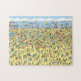 Puzzle Donde está Waldo en la playa