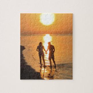 Puzzle Dos amantes en la salida del sol