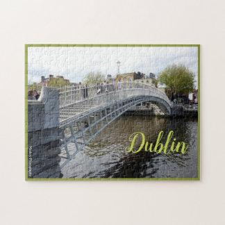 Puzzle Dublín (puente del medio penique) con el texto