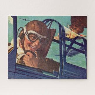 Puzzle duelo de los años 40 WWII en el aire