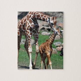 Puzzle El animal del safari de África de la jirafa