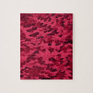 Puzzle El arte pop abstracto del follaje se ruboriza rojo