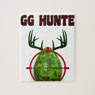 Puzzle El cazador experto de Pascua, ciervo del huevo