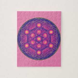 Puzzle El cubo de Metatron en la flor de la vida
