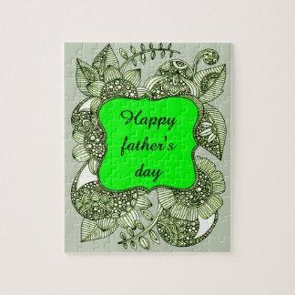 Puzzle El día de padre feliz