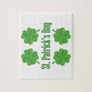Puzzle El día de St Patrick con el trébol