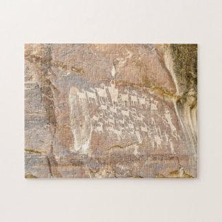 Puzzle El gran panel de la caza - arte de la roca