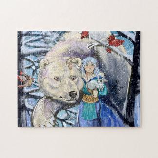 Puzzle El invierno enrolla Polarbear