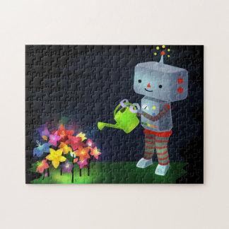 Puzzle El jardín del robot