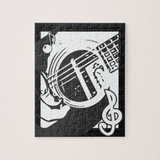 Puzzle El jugar de la guitarra del amante de la música