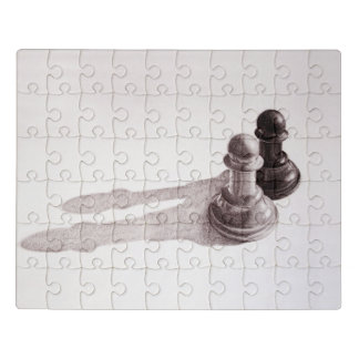 Puzzle El lápiz dibujado empeña ajedrez