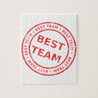 Puzzle El mejor sello del equipo - premio, primer,