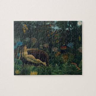 Puzzle El sueño de Henri Rousseau, impresionismo del