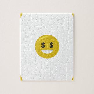 Puzzle emoji del ojo del dinero