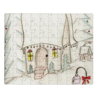 Puzzle Escena festiva del navidad