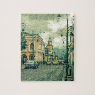 Puzzle Escena urbana de centro histórica en la ciudad de