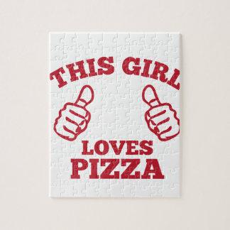 Puzzle Este chica ama la pizza