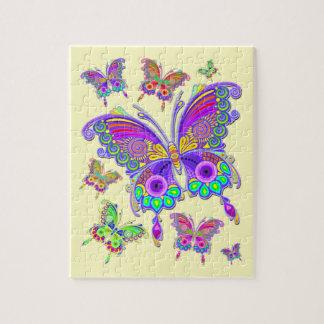 Puzzle Estilo colorido del tatuaje de la mariposa